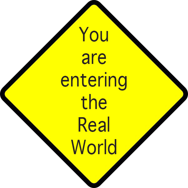 Street sign real world